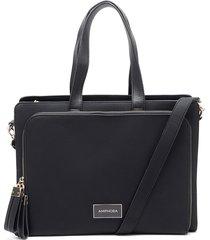 cartera tipo maletín pamelita negro amphora