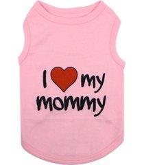 parisian pet i love mommy dog t-shirt