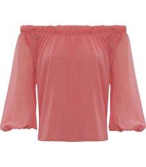blusa kika simonsen ciganinha rosa