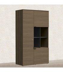 armário para escritório alto 3 portas office 2017 f209 carvalho munique - kappesberg