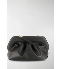 themoirè pleated faux-leather clutch bag