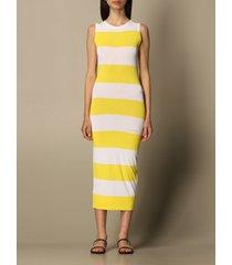 dsquared2 dress dsquared2 midi dress in striped jersey