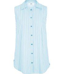 camicetta senza maniche in viscosa (blu) - bpc bonprix collection