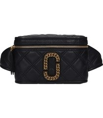 marc jacobs waist bag in black leather