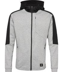hmltropper zip hoodie hoodie trui grijs hummel