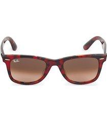 rb2140f 52mm faux tortoiseshell square sunglasses
