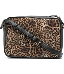 liu jo leopard print shoulder bag - brown