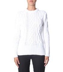 thom browne aran cable sweater