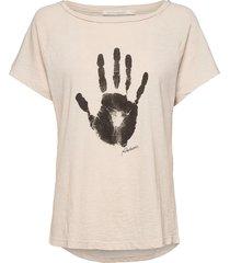 filina t-shirts & tops short-sleeved creme rabens sal r