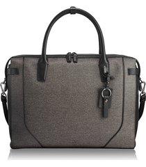 tumi stanton irina laptop commuter briefcase - grey
