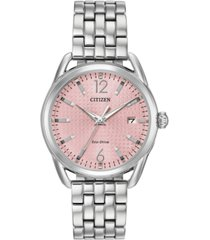 citizen drive from citizen eco-drive women's stainless steel bracelet watch 36mm