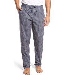 men's hanro night & day woven pajama pants, size x-large - grey
