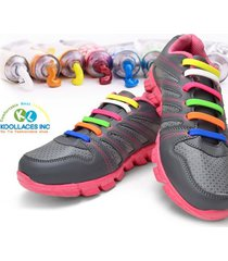 koollaces silicone shoelaces for kids - child friendly no-tie shoe laces