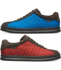 camper twins, sneaker uomo, grigio/verde/rosso , misura 46 (eu), k100630-002