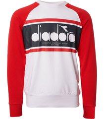 diadora spectra sweatshirt - ivory & red 502173626-c7579