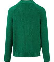 trui van 100% katoen met ronde hals van day.like groen