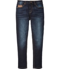 jeans elasticizzati con similpelle slim fit straight (blu) - john baner jeanswear