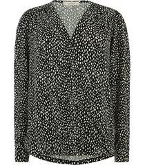 blouse met ongelijke zoom