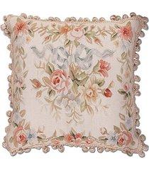 almofada aubusson silk flores 1 - 50 x 50