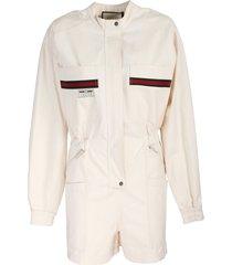 gucci ivory cotton suit