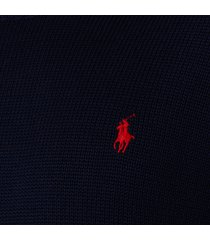 polo ralph lauren men's crewneck sweatshirt - hunter navy - l