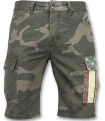 enos camouflage korte broek bermuda broeken