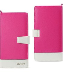 reiko two tone super wallet case with snap button & multiple card slots for ipho