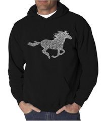 la pop art men's word art hoodie - mustang