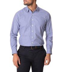 men's rodd & gunn montello gingham button-up shirt, size small - blue