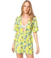 vestido new beach curto saint tropez azul/verde - azul - feminino - dafiti