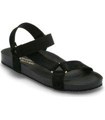 bibbi shoes summer shoes flat sandals svart re:designed est 2003