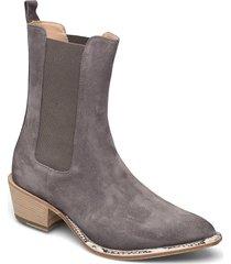 ankle boots shoes boots ankle boots ankle boot - heel grå laura bellariva