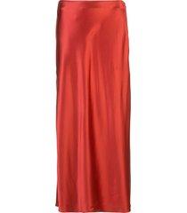 fleur du mal mid-length slip skirt - red