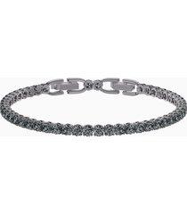 braccialetto tennis deluxe, grigio, placcatura rutenio
