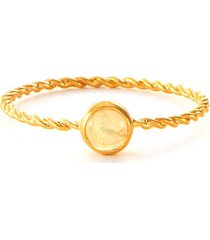 opal 18k gold vermeil twisted band ring