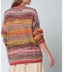 holzweiler women's sandaker knitted sweatshirt - yellow mix - l