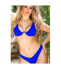 sexy brazilian onderbeugel bikini blauw