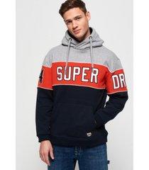 superdry men's academy 54 panel hoodie