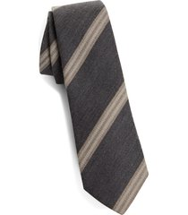 men's brunello cucinelli stripe wool & silk tie