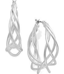charter club spiral hoop earrings