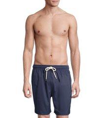 brooks brothers men's montauk solid swim shorts - navy - size l