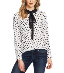 cece dot-print collared top