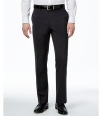 alfani men's traveler charcoal solid classic-fit pants, created for macy's