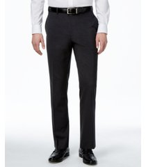 alfani men's traveler solid big and tall classic-fit pants, created for macy's