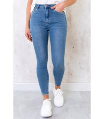 skinny broek high waist denim