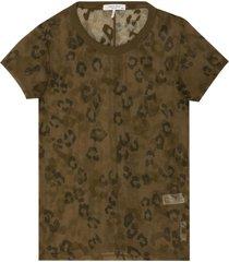 cheetah print slim fit t-shirt