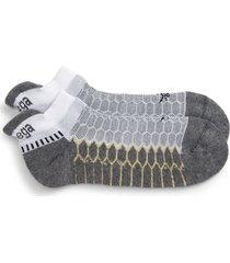 men's balega silver socks, size large - white