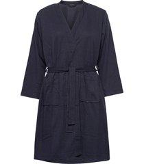 decoy robe waffel fabric morgonrock blå decoy