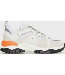 selected homme slhadam trail trainer w sneakers vit