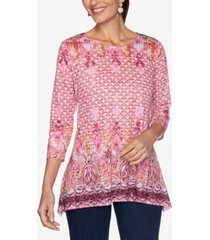 ruby rd. women's misses knit provencal top